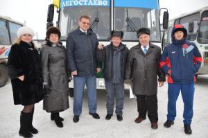 Новый автобус будет возить пассажиров по Искитимскому району