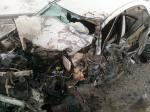 Грузовик уничтожил иномарку возле Искитима