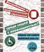Искитимцы с инвалидностью могут принять участие в опросе Минтруда НСО