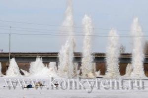 В Искитиме вынуждены отказаться от проведения взрыва льда у моста через Бердь