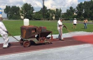 Беговая дорожка на стадионе с/к «Заря» стала более профессиональной