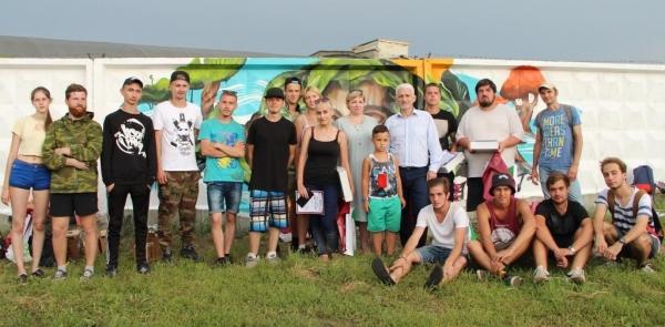 """В конкурсе граффити """"ЭкоИскитим"""" победила работа барнаульских ребят """"Красота в лице природы"""""""