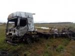 Возле Лебедевки сгорел автомобиль с грузом