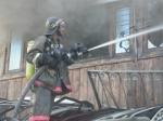 Сгорел дом в Искитиме