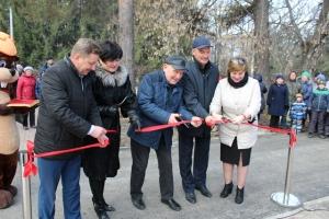 В Искитиме торжественно открыта спортплощадка в парке им. Коротеева