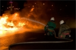 В Искитиме ночью сгорел автокран