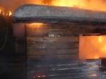Пожар уничтожил баню в п. Чернореченский