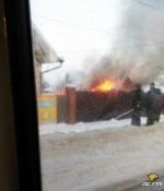 Полностью сгорел дом в Бердске