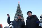 Врио губернатора Андрей Травников 2 января инспектировал город Искитим