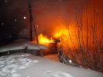 В Искитиме продолжают гореть дома