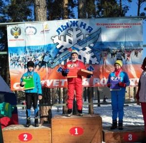 Линевские лыжники – на «Лыжне России»