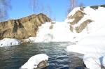 Беловский водопад освободился от ледяного плена