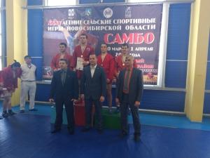 Искитимские самбисты сразились за медали в финале сельских игр Новосибирской области