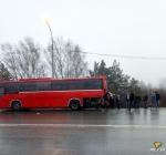 Грузовик протаранил рейсовый автобус Новосибирск- Линево