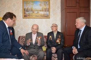Поздравили участников Великой Отечественной войны с предстоящим праздником 9 Мая