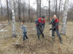 Трудовой десант  «Сибирского Антрацита»   помог провести уборку в Листвянском