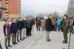 В Искитиме состоялась торжественная отправка в армию призывников