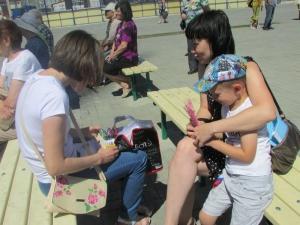 Сотрудники библиотеки р.п. Линёво приняли участие в мероприятии, посвященном дню семьи, любви и верности