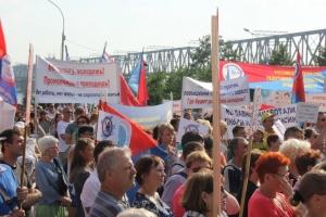 Протесты против повышения пенсионного возраста продолжаются