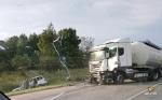 Автоцистерна протаранила ВАЗ возле деревни Евсино