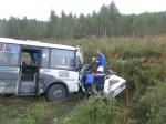 ДТП с участием автобуса на трассе Линево-Гусельниково