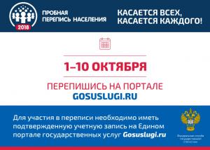 Искитимцы могут принять участие в пробной переписи населения на портале госуслуг