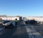 Шесть человек пострадали в ДТП под Лебедевкой