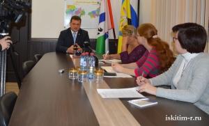 Глава Искитимского района Олег Лагода провел традиционную встречу с журналистами местных СМИ