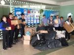 В Искитиме ученики девятой школы собрали 1064 кг макулатуры