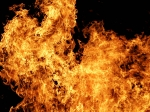Ночной пожар на улице Искитимская