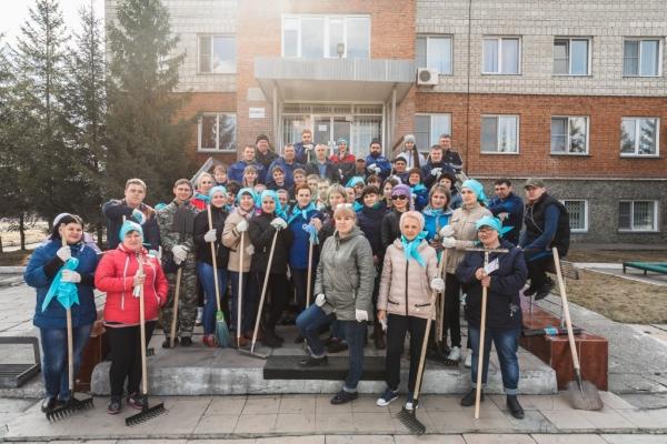 «Сибирский Антрацит» на весеннем субботнике в Листвянке