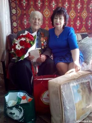 В преддверии 9 Мая участникам Великой Отечественной войны, проживающим на территории Искитимского района были вручены подарки