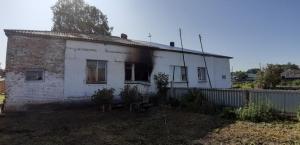 В селе Белово произошел пожар в доме