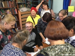 В межпоселенческой библиотеке состоялась беседа читателей с Игорем Мараниным