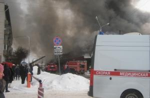Пожар в Искитиме: горит центральный рынок