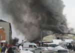 На пожарище центрального рынка найдены останки мужчины