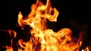 Пожар в Бурмистрово: дом сгорел, хозяин получил ожоги