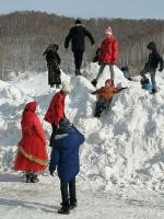 В селе Елбаши прошли народные гуляния «Боярыня Масленица»