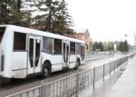 В автобусе 9а при движении по маршруту воспламенился моторный отсек