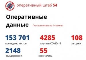 В Новосибирской области за сутки выявили 108 новых случаев COVID-19