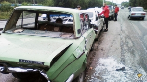 На Бердском шоссе столкнулись пять автомобилей