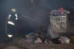 В Искитиме вновь горят пластиковые мусорные контейнеры