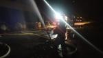 В Новосибирске ночью произошел крупный пожар, местные жители слышали взрывы