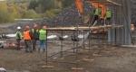 Готов фундамент для нового моста через реку Ик в Новососедово