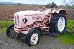 Когда многие девушки мечтают встретить принца на белом коне, жительница Искитима  ждёт суженого на розовом тракторе