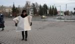 Одиночный пикет против бесхозяйственности властей провела жительница Искитима
