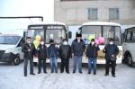 Глава района вручил водителям Искитимского пассажирского автопредприятия ключи от четырех «ПАЗиков» и одной «Газели»