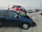 Три человека травмированы в жёстком тройном ДТП около Бердска на повороте в Агролес