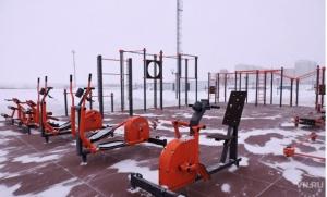 На стадионе в р.п. Линево появилась спортивная площадка для сдачи норм ГТО