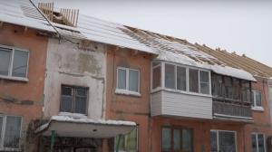 В доме без крыши в п. Чернореченский снег тает в квартиры жильцов